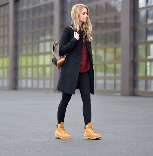 ... woman just wear however your mood feels like and elevate the look with  accessories to match. Who said ladies cannot handle Timberland Boots 5a40ee4077