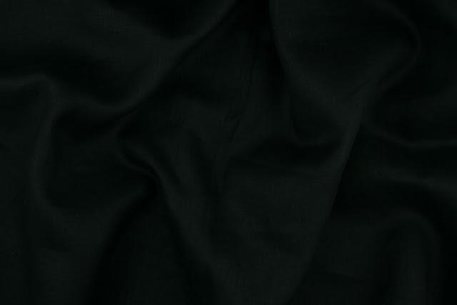 Black Handkerchief Linen Fabric