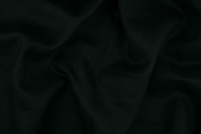 Black Handkerchief Linen Fabric