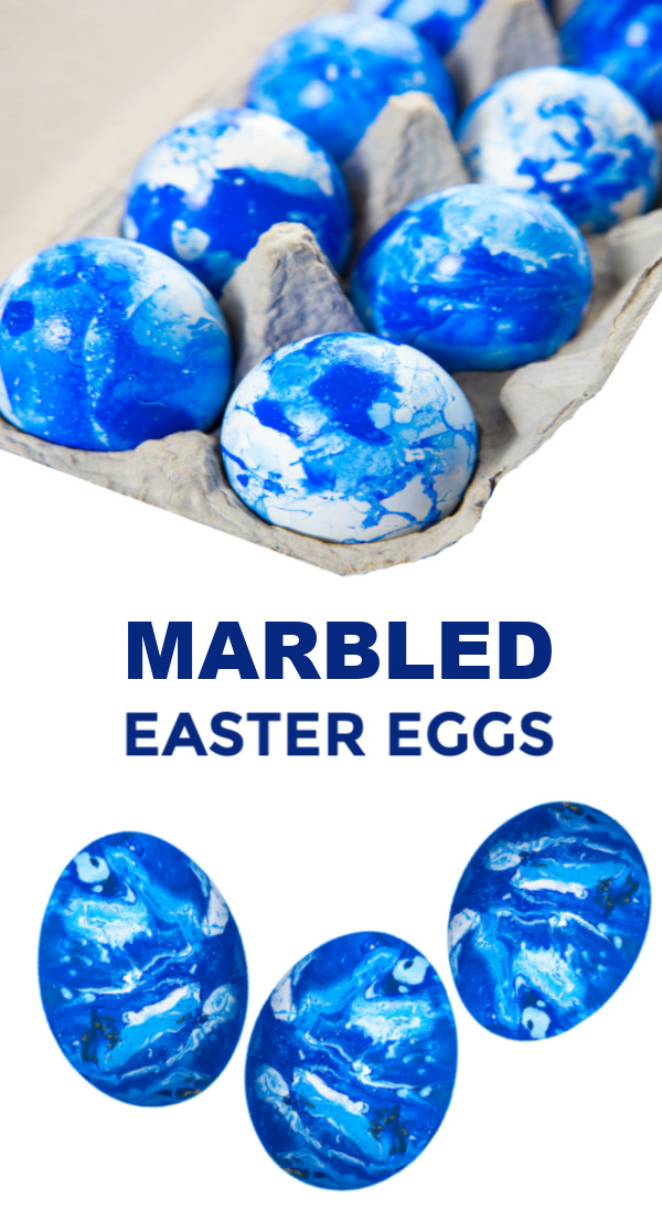 Decorate beautifully marbled Easter eggs using shaving cream and food dye!  This is one of my kids favorite ways to dye Easter eggs! #eastereggs #shavingcreameastereggcoloring #marbledeastereggs #marbledeggs #marbledeastereggsshavingcream #swirledeastereggs #shavingcreameggs #shavingcreameggdying #growingajeweledrose