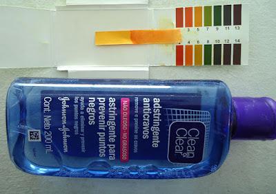 pH de Locion astringente Clear & Clear