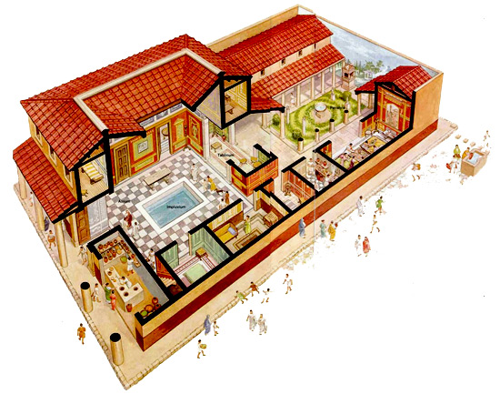 l 39 abitazione romana. Black Bedroom Furniture Sets. Home Design Ideas