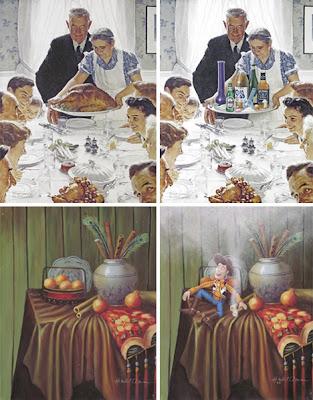 Pintura renovada con ilustración divertida