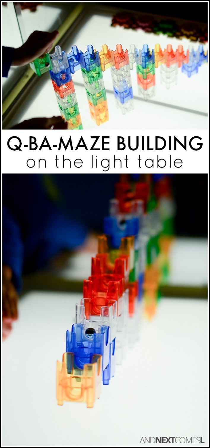 Light Table Play With Q Ba Maze And Next Comes L