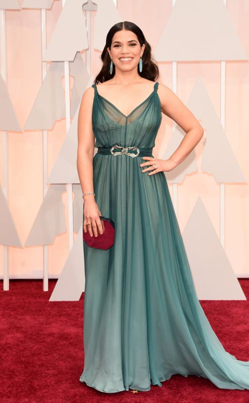 America Ferrera in Jenny Packman at the Academy Awards 2015