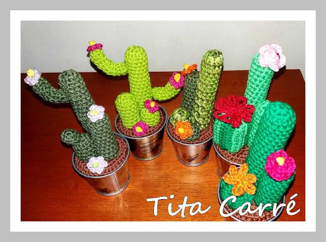 Meus Cactus em crochet
