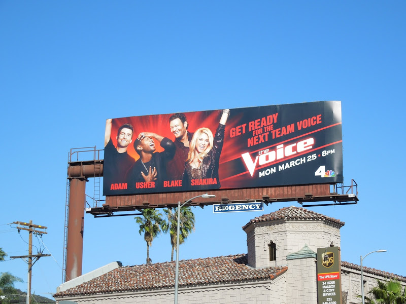 Voice season 4 NBC billboard