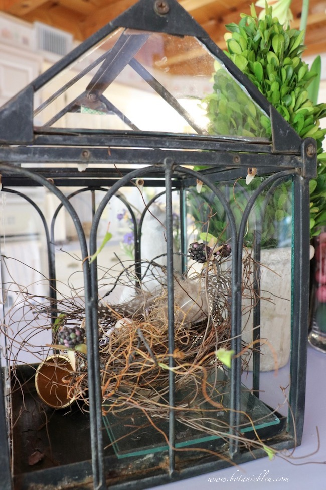 kitchen island DIY nest in black metal glass conservatory