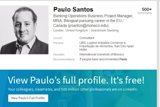 Paulo Santos is an investment banker, not related to samba binary options