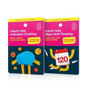 Paket Chatting 3 Tri Sebulan 5000 Unlimited