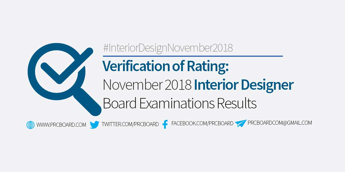 interior design board exam schedule 2018 result