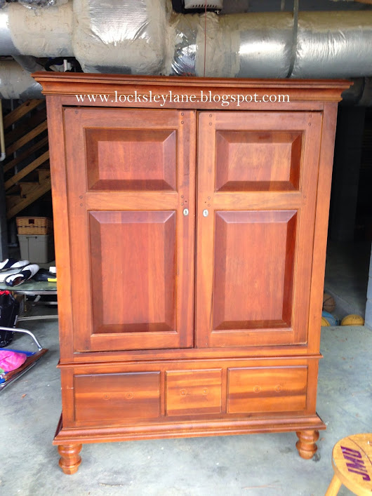 Big Brown Armoire Goes Shabby