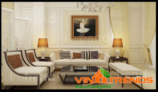 Thiết kế nội thất trong mẫu biệt thự phố 3 tầng kiểu Châu Âu hoàn hảo từng chi tiết