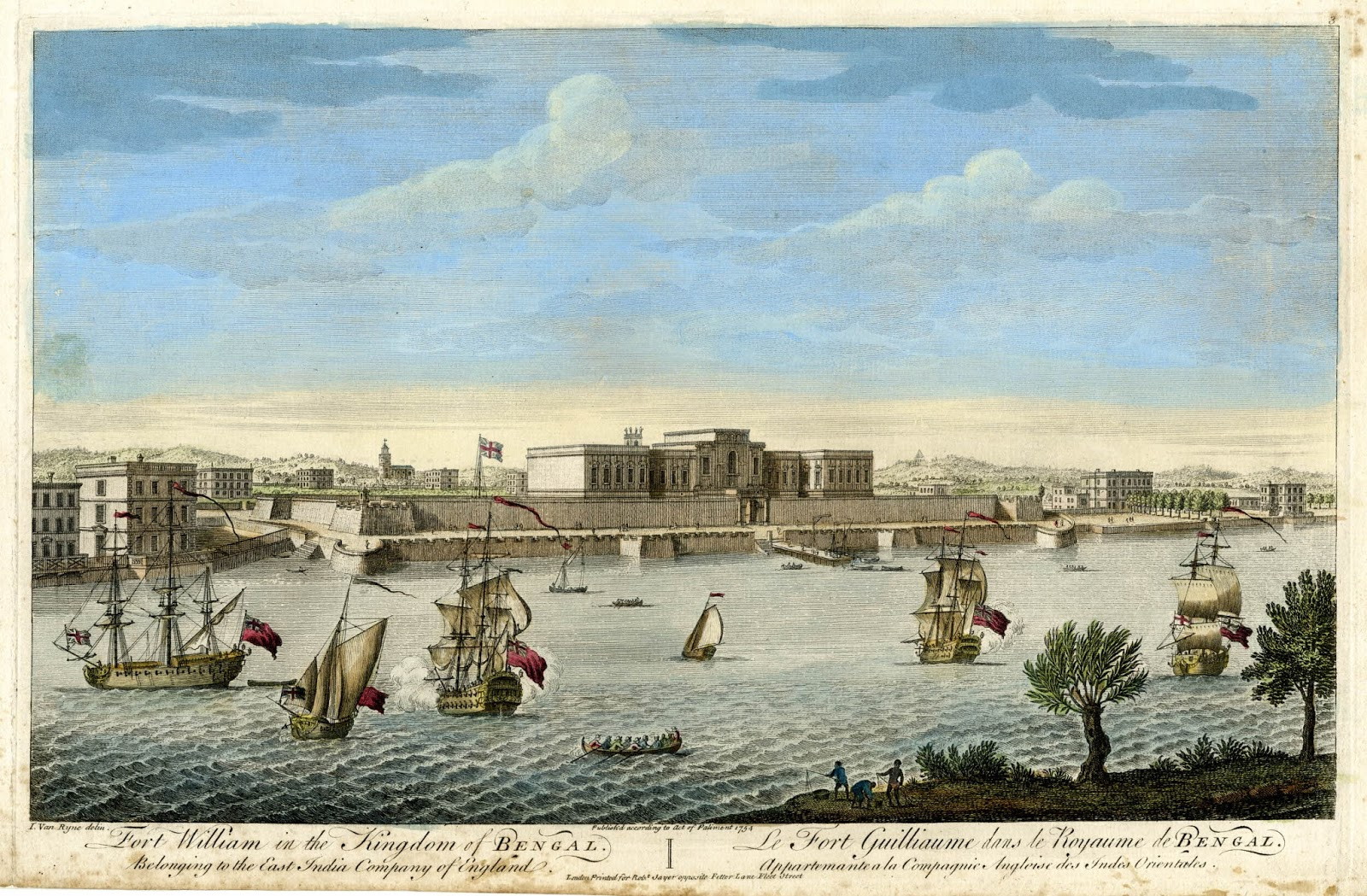 Fort William in the Kingdom of Bengal, 1754. ""