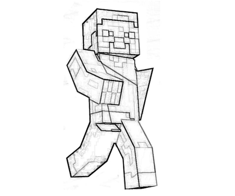 printable minecraft character coloring pages