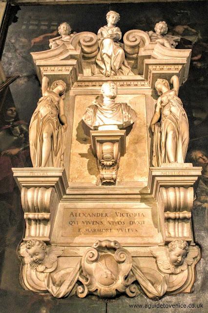 Memorial to Alessando Vittoria, San Zaccaria, Venice