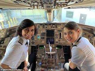 Family Goals: Photo of mother-daughter as co-pilot team