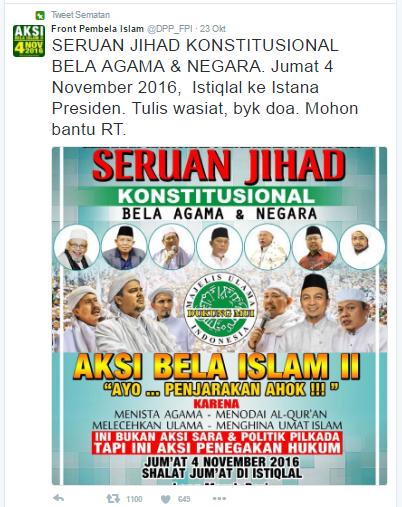 Seruan Jihad 4 November