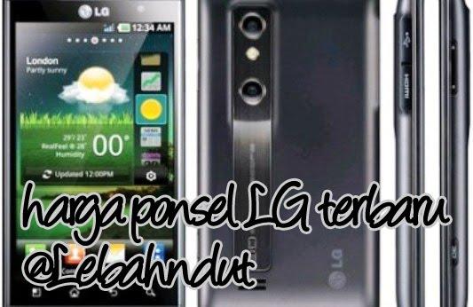 Update Daftar Harga Ponsel LG Baru Bekas Desember 2012 Terlengkap