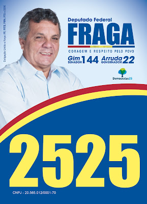 santinho do deputado federal fraga 2525