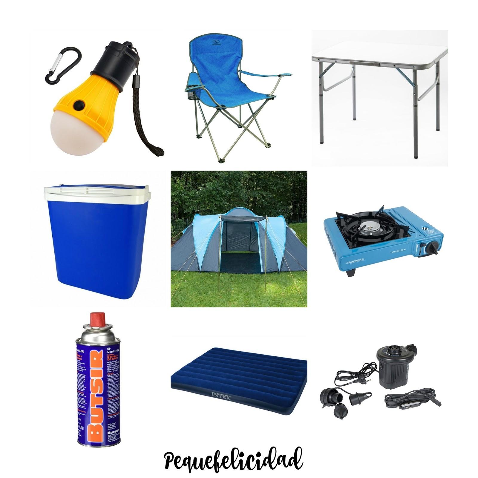 pequefelicidad: kit de imprescindibles para empezar a ir de camping