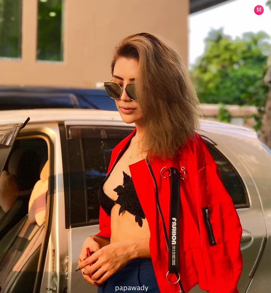 Maria J Naw - Red Jacket Outfit Fashion