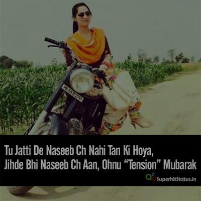 Punjabi Attitude Girl Status for Whatsapp