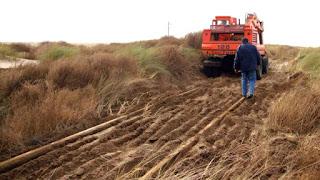 Trabajan en la reparación de las vías entre Viedma y Bahía Blanca