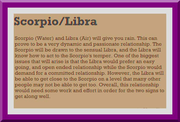 Libra Female Male Compatibility Scorpio And