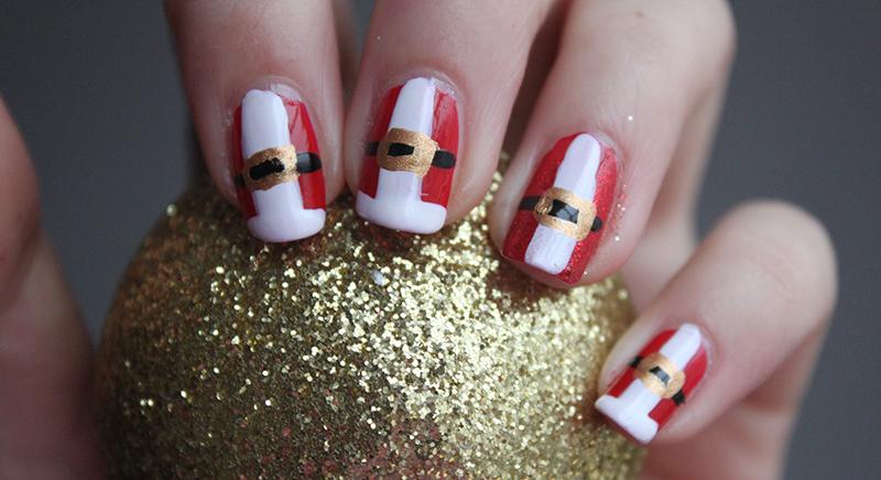 father christmas nails