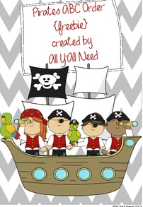Pirate ABC Order by All Y'all Need