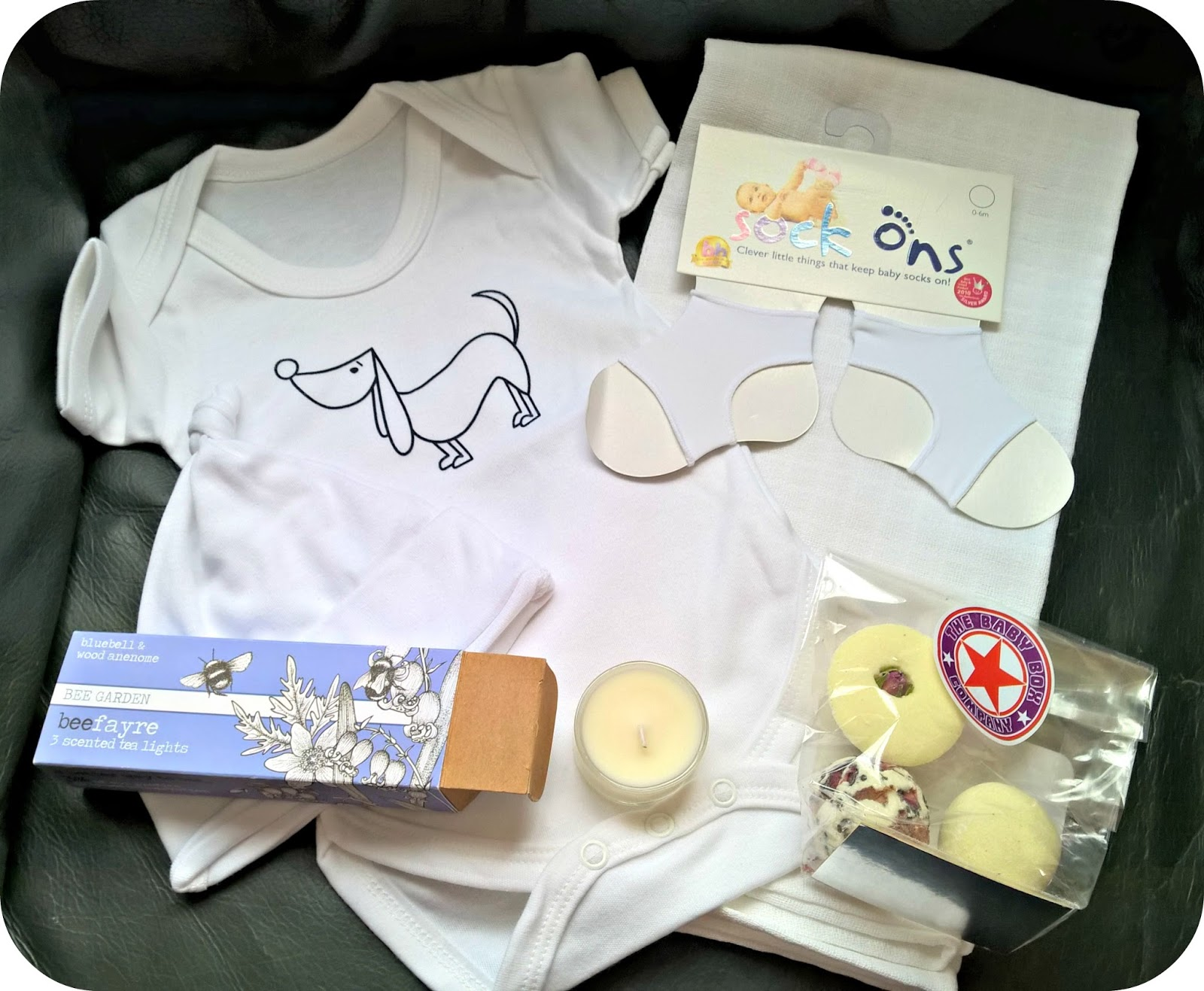 Beautiful New Baby Gifts from the Baby Box Company - Pure White Medium Box Contents