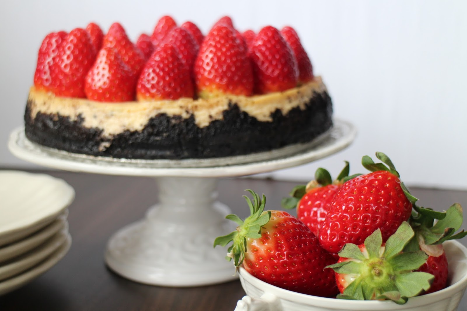 strawberry-cheesecake, cheesecake-de-fresas