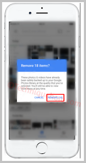 Delete iPhone Photos Directly from Google Photos App