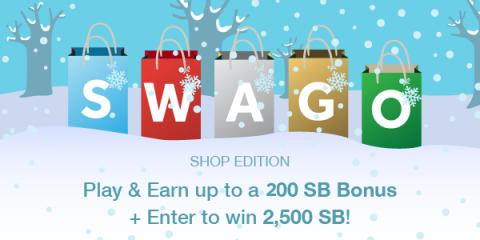 Image: Swagbucks is hosting another round of Shopping Swago just in time for the Holidays!