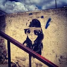 grafiti de una mujer
