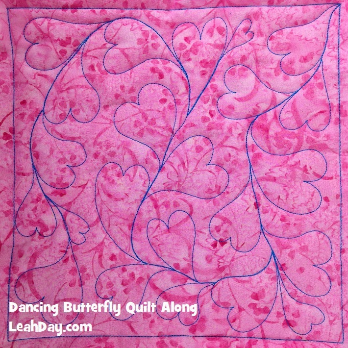 free motion quilting design | heart quilting design