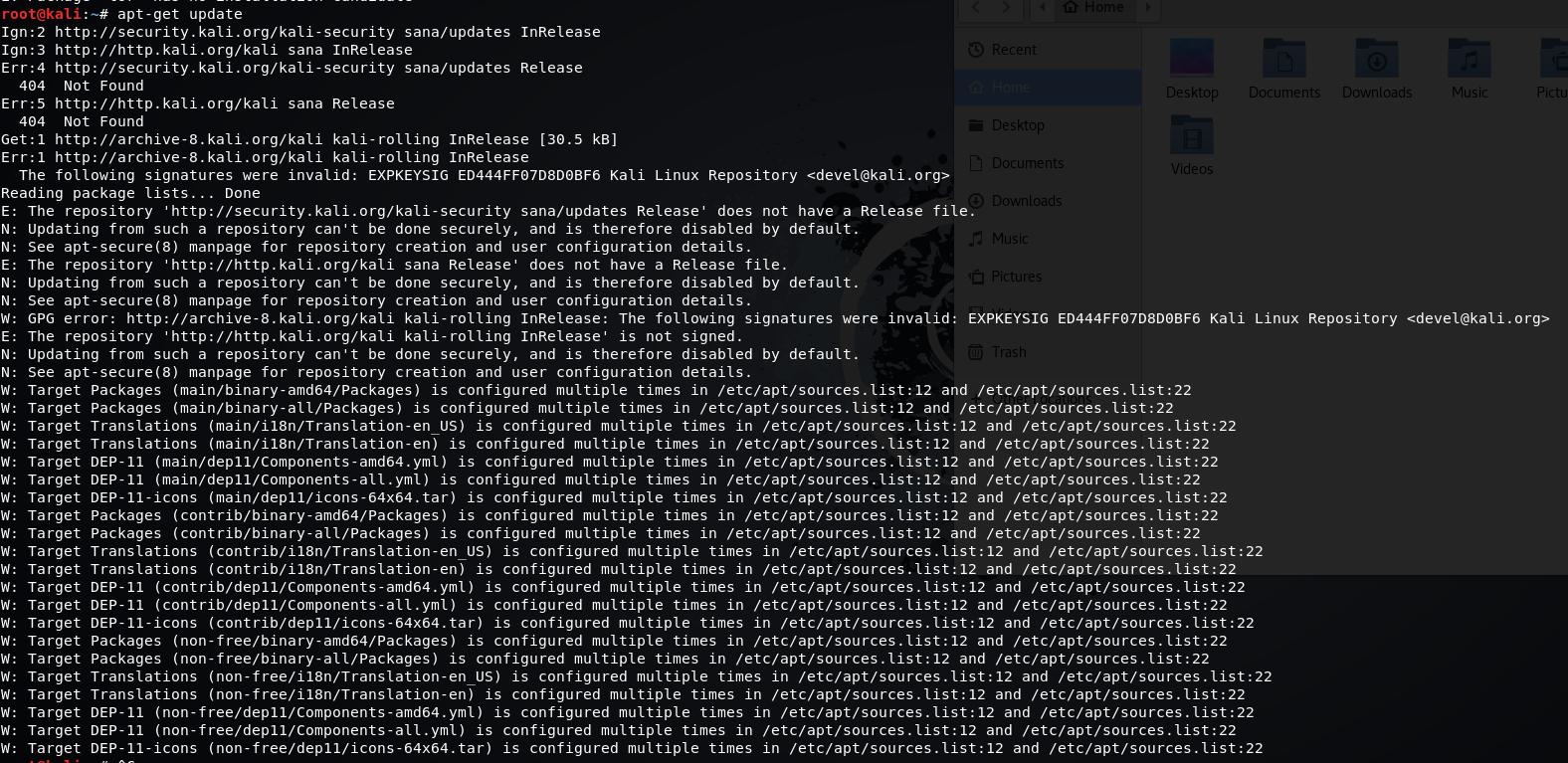 apt-get update error