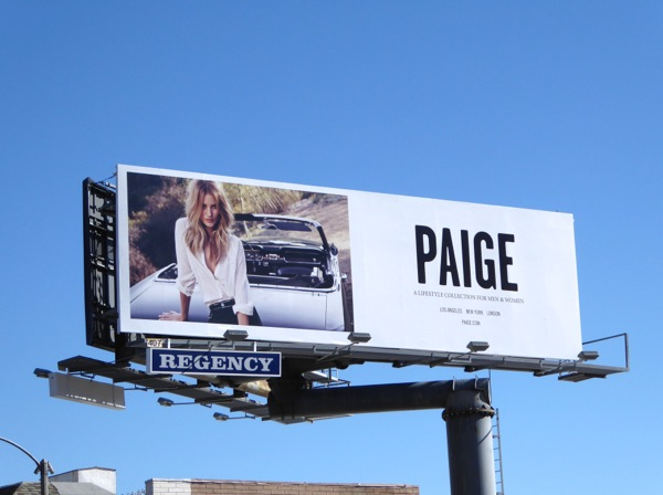 Rosie Huntington Whiteley Paige S16 billboard
