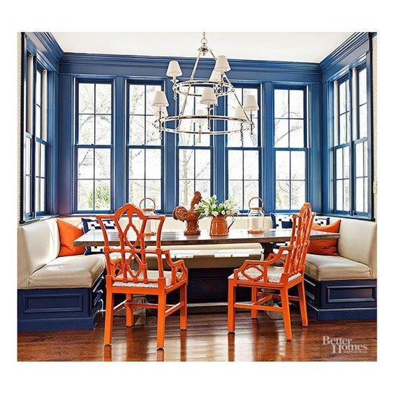 Orange Dining Room