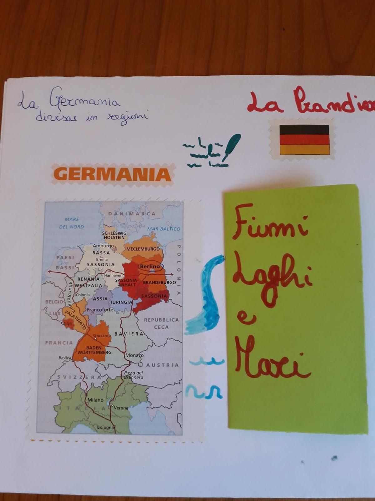 Germania Cartina Fiumi.Voceesilenzio Homeschooling Lapbook La Germania