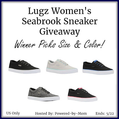 Enter the Lugz Women's Seabrook Sneaker Giveaway. Ends 5/22