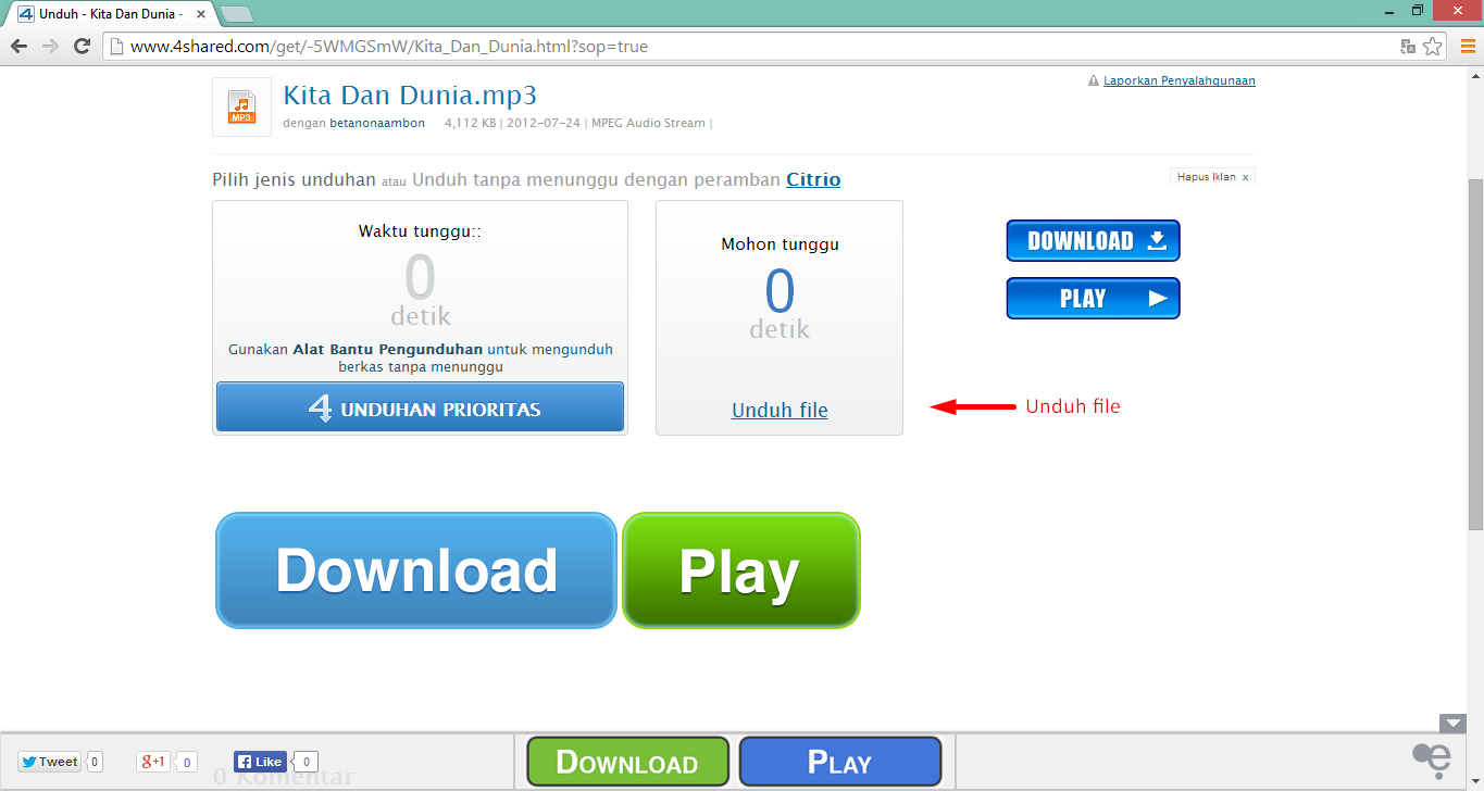 Cara Download File di 4shared.com 5