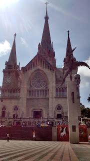 Manizales' main cathedral. Manizales, Caldas, Colombia.