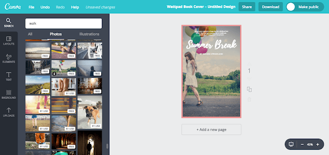 create free ebook cover on canva