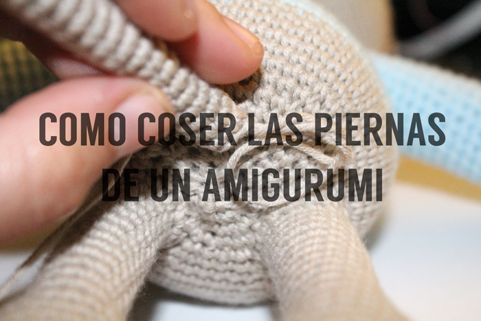 coser, piernas, amigurumi