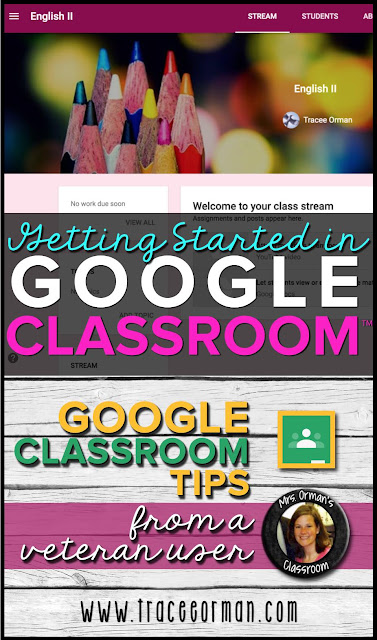 Getting Started on Google Classroom™ www.traceeorman.com