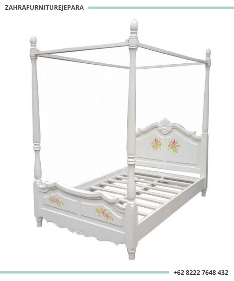 TEMPAT TIDUR ANAK PEREMPUAN SHABBY CHIC STYLE