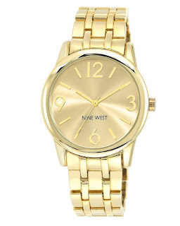 Nine West Champagne Dial Gold Tone Watch $28 (reg $49)