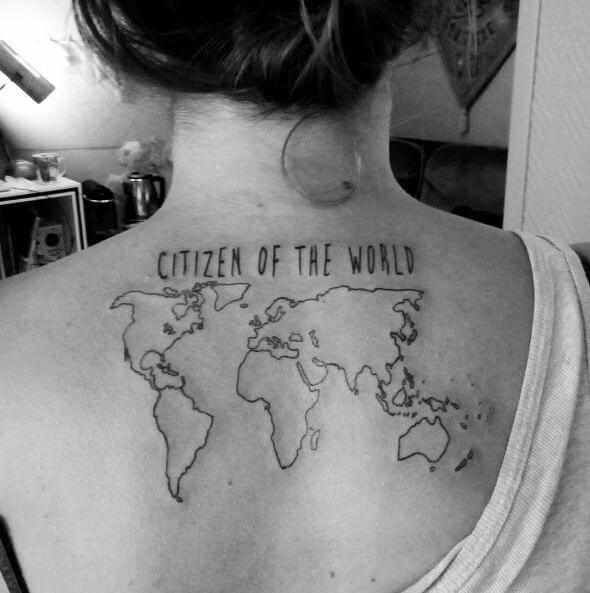 31 world map tattoos designs for travelers 2018 tattoosboygirl world map tattoos gumiabroncs Images